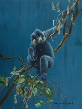 Yellow-cheeked gibbon by Dao Van Hoang https://www.behance.net/daovanhoang